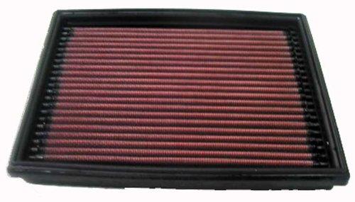 K&N Engineering 33-2813 air filter - air filters (Black, Red, PEUGEOT 206 PETROL AND DIESEL MODELS, 170 x 206 x 29 mm)