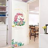 Gemeng Sticker Mural Licorne Sticker Porte Porche Salon Décoration Murale