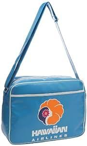 Logoshirt Unisex-Adult Hawaiian Airlines Fake Landscape Format Messenger Bag Turquoise 128-0309/026