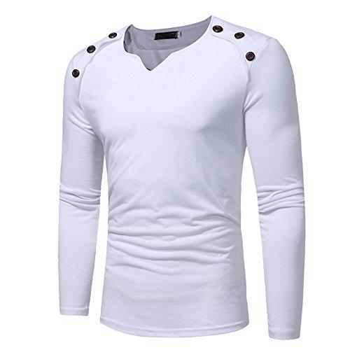 Mode Neu Langarmshirt Herren Knopfleiste t Shirt, Langarm mit Ausschnitt Baumwolle Atmungsaktiv Longsleeve Henley Shirt Longsleeve, Schlafanzugoberteil, Langarm, Baumwoll Top Blusen -