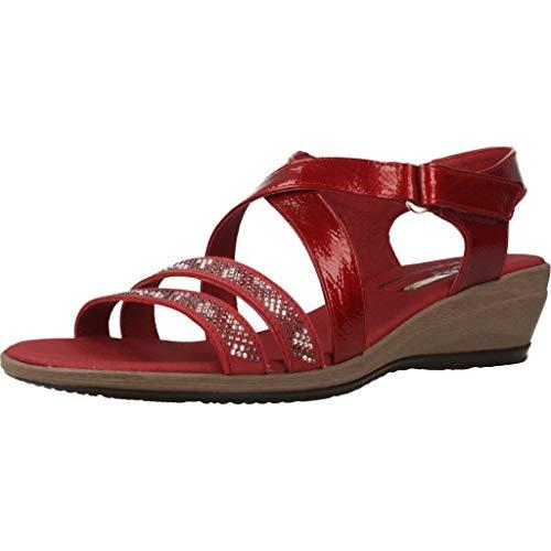 24 Horas Zapatos Cordones Mujer 24077 24H para Mujer Rojo 40 EU