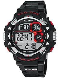 Calypso Hombre Reloj digital con pantalla LCD Pantalla Digital Dial y correa de plástico en color negro K5674/2