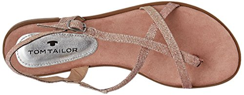 Tom Tailor - 2791805, Infradito Donna Rosa (Old Rose)