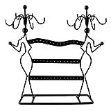 Portagioie design 'Profili di donna' - Nero 35 x 34 x 8 cm - Organizer per...
