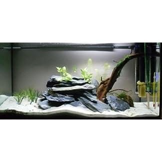Aquarium Rock Fish Tank Decoration Slate 100% Natural Ideal For Caves BLACK SLATE 10kg Set 15