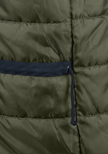 PRODUKT Platon Herren Parka lange Winterjacke mit Kapuze samt Fellkragen und Holz-Knopfleiste aus hochwertigem Material Navy Blazer
