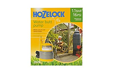 Hozelock 3-in-1 Water Butt High Pressure Pump 1.1 bar Max Pressure with Tap Connector Included