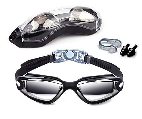 Hurdilen Schwimmen Brillen, Schwimmbrille Anti-Fog UV-Schutz beschichteter