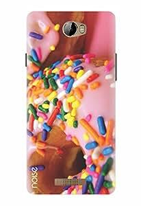 Noise Designer Printed Case / Cover for Karbonn Aura / Bling / Pink sprinkle donuts Design