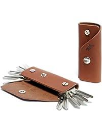 """Pack & Smooch Schlüsselmäppchen Schlüsseletui Leder""""Kingsley L"""" für bis zu 10 Schlüssel Handmade in Germany"""