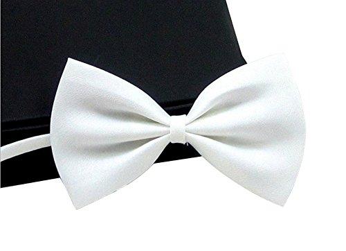 Kostüm B1 (oumosi Fashion Cute Fliege für Hunde Halsband Farbe Polyester verstellbar Fliege Krawatte für Haustier Puppy Katze Kätzchen Kleid White bow)