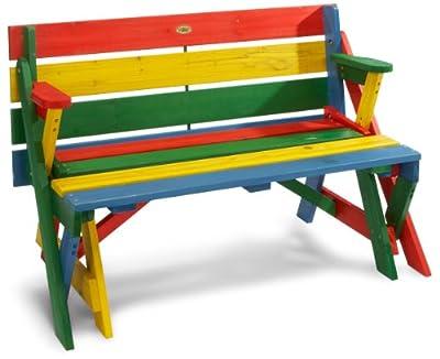 Habau Kinder-Picknickbank, Mehrfarbig, 100 x 99 x 58 cm
