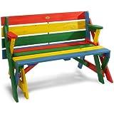 Habau 687 Table de pique-nique convertible pour enfants Multicolore