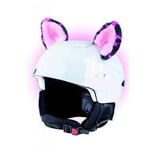 Crazy Ears Helm-Accessoires Ohren Katze Tiger Lux Frosch, Ski-Ohren geeignet für Skihelm, Motorradhelm, Fahrradhelm und vieles mehr. Helm Dekoration für Kinder und Erwachsene, CrazyEars:Pinke Ohren