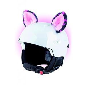 Crazy Ears Helm-Accessoires Ohren Katze Tiger Lux Frosch, Ski-Ohren geeignet für Skihelm, Motorradhelm, Fahrradhelm und vieles mehr