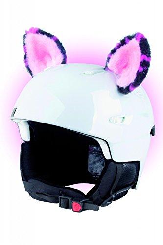 Für Mädchen Helm Snowboard (Crazy Ears Helm-Accessoires Ohren Katze Tiger Lux Frosch, Ski-Ohren geeignet für Skihelm, Motorradhelm, Fahrradhelm und vieles mehr. Helm Dekoration für Kinder und Erwachsene, CrazyEars:Pinke Ohren)