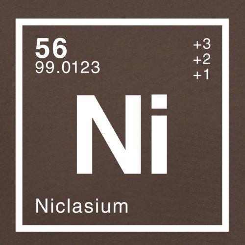 Niclas Periodensystem - Herren T-Shirt - 13 Farben Schokobraun