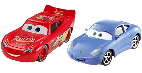 Disney Pixar Cars 3 – Lightning McQueen & Sally – Set mit 2 Die-Cast-Modellen (Cars 2 Disney Diecast)