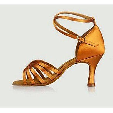 Scarpe da ballo-Personalizzabile-Da donna-Balli latino-americani-A stiletto-Raso-Nero Blu Giallo Rosso Yellow