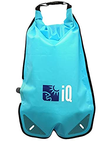 iQ-Company Pack Sack Dry Compression mit Ventil, Turquoise, 30 x 14 x 14 cm, 6 Liter, 420106-2515 (Dive Seesack)