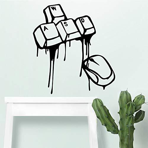 woyaofal Lustige Tastatur Maus Wand s Moderne innen Kunst wanddekoration für kinderzimmer DIY Dekoration Aufkleber wandbild XL 57 cm x 62 cm