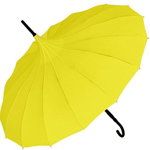 Regenschirm Pagode Cecile gelb
