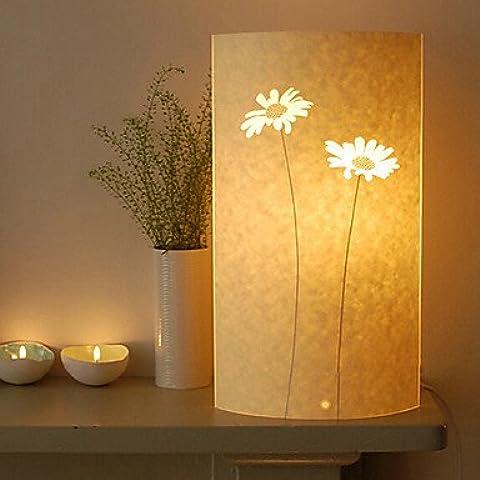 dee lámpara de pie 1 luz patrón de girasol pantalla de pergamino retro