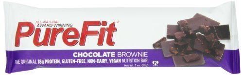 PureFit Nutrition Bar, Chocolate Brownie, 2-Ounce Bars (Pack of 15) by PureFit BEAUTY (English Manual)