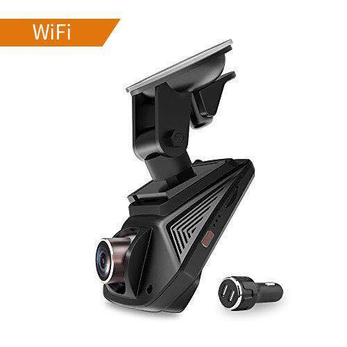 "Auto kamera WIFI Autokamera Full HD 1080P Dashcam Video Recorder mit Sensor SONY MIX323   6 Linse 2.45"" IPS Display   170° Weitwinkel   G-Sensor   WDR Super Nachtsicht   Loop Aufnahme(Schleifenaufnahme)   Parkmonitor   SOS-Schutz   inkl.AZDOME 2 Port Kfz Ladegerät"