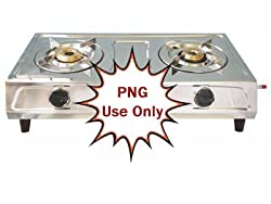 Surya 2 Burner Gas Stove for PNG Connections by Brightflame