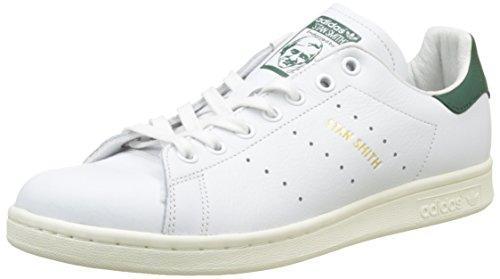adidas Herren Stan Smith Fitnessschuhe, Weiß (Ftwbla/Ftwbla/Veruni 000), 42 2/3 EU (Green Lab Fashion Frauen)