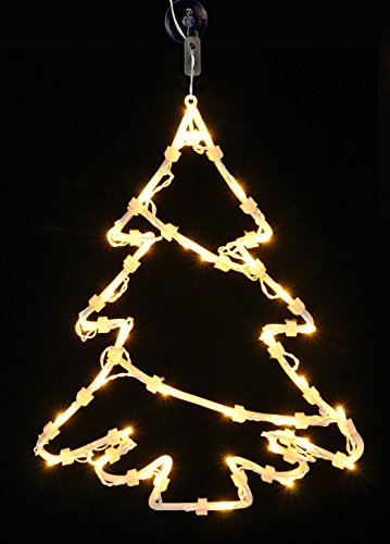LD Weihnachten Deko LED Fensterbild beleuchtet - 3 Motive - Weihnachtsdeko Fenster Deko mit Timer (Lieferzeit ist 3-7 Tagen)