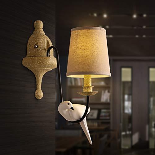 WTOKL Appliques LED Résine E14 Simple Oiseau Forme Simple Tête Décoration Salon Étude Chambre Escaliers Entrée