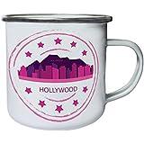 Nuevo Logotipo De Retro De Los Eeuu De Hollywood Retro, lata, taza del esmalte 10oz/280ml l997e
