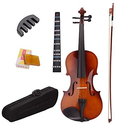 BKAUK 4/4 Adesivi Muti Violino Naturale Un Grandezza Naturale con Custodia Arco