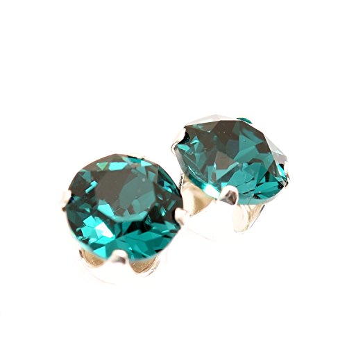 sterling-silver-stud-earrings-expertly-made-with-emerald-green-crystal-from-swarovskir