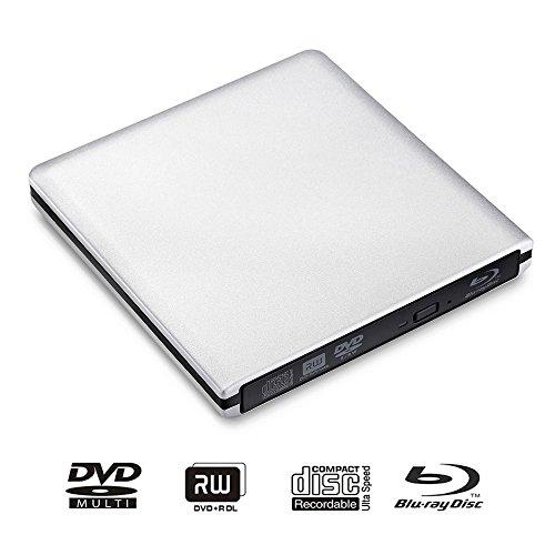 LeaningTech BD-1 Super-Blu-Ray-Driver, External DVD CD Blu-Ray Disc Scheibe Player Leser Schreiber...