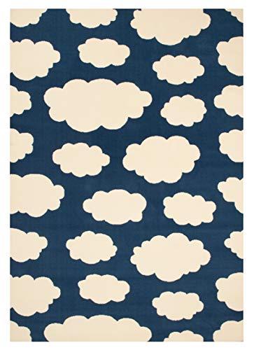 Zala Living Wolken Kinderteppich Spielteppich, Popypropylen, Blau, 140x200 cm -