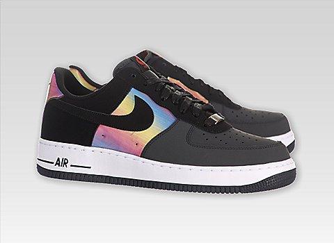 "Preisvergleich Produktbild Nike Air Force 1 Comfort ""Hologram"" Mens Basketball Shoes 599456-001 Anthracite 12 M US"