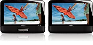 Philips PD9012M/37 Lecteur DVD/Blu-Ray portable - Lecteurs DVD/Blu-Ray portables (LCD, 640 x 220 pixels, 32 - 320 Kbit/s, MP3, JPG, Secteur, Batterie/Pile)