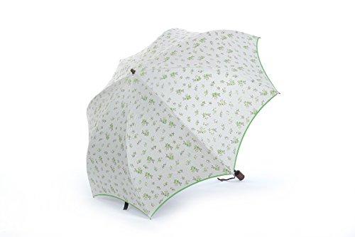 Honeystore Regenschirm 2-Falten Taschenschirm Blumen Sonnenschutz Sonnnenschirm Grün