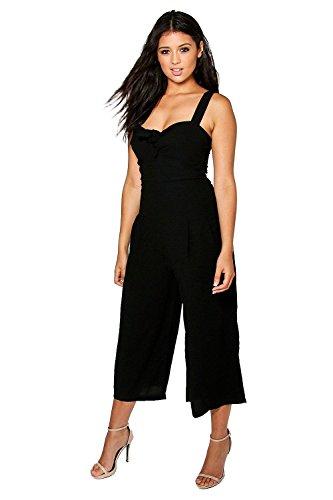 Noir Femmes Jenny Twist Avant Culotte Jumpsuit Noir