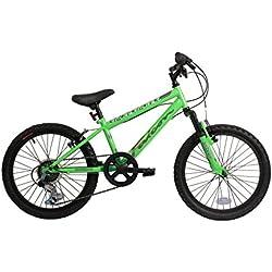 Falcon Boy's HT - para bicicleta de montaña Samurai verde, 50,8 cm