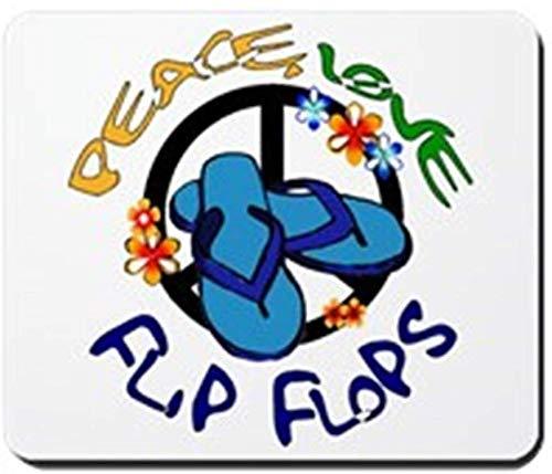 Frieden, Liebe, Flipflops Rutschfestes Gummi-Mousepad, Gaming-Mauspad