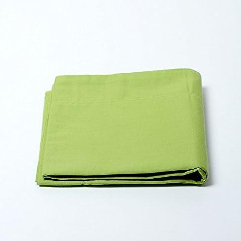 Drap housse 57 fils/cm² 180 x 200 cm Vert Anis pour lit