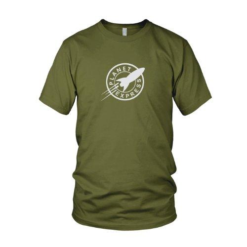 Planet Express - Herren T-Shirt, Größe: XL, Farbe: army (Futurama Kostüme)