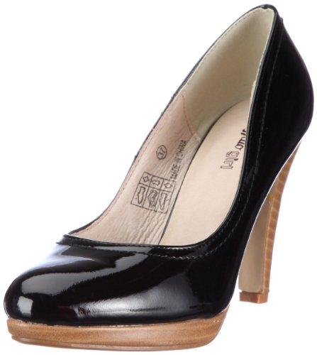 Buffalo Girl 226757 PATENT 130254, Damen Pumps, Schwarz (BLACK 01), EU 41 (Buffalo Girl)