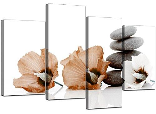 Wallfiller Canvas 4073 XL Leinwanddruck, Blumen, Braun
