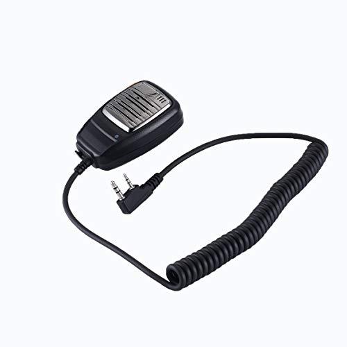 Monlladek Handmikrofon K Kopf Lautsprecher Mikrofon Funkgerät Für 2 Jack Kenwood TK378G TK278G TK3107 TK2107 TK3207 Walkie Talkie