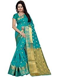 The Shopoholic Women's Cotton Silk Saree (DEVYANI FIROZI 1_FIROZY)